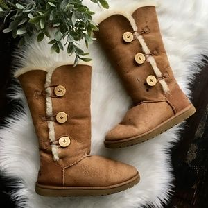 UGG Tall Bailey Button Boots Chestnut Women's 9